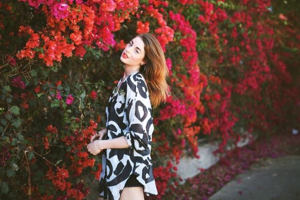 Beauty, Lookbook, Los Angeles, Fashion Blogger, Vintage, Flower, Red Head, Beauty