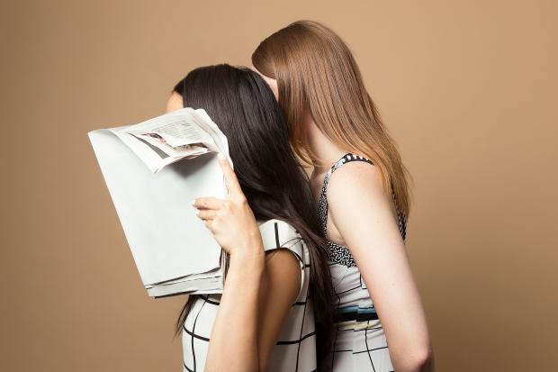 news, newspaper, vintage, surreal, beauty, model, minimal, studio,