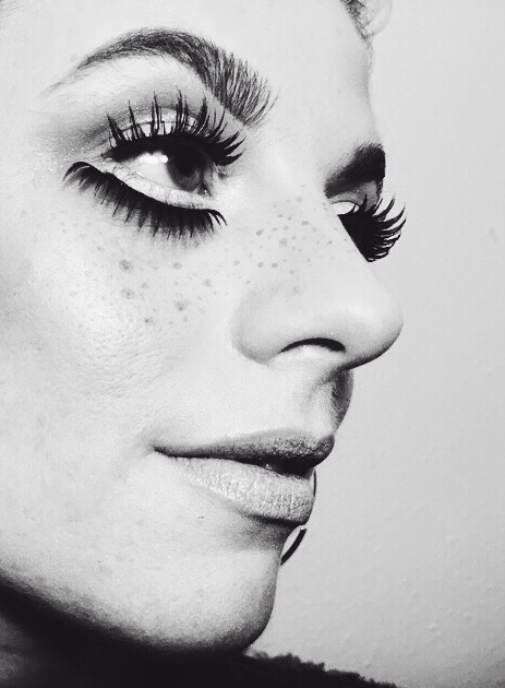 lashes, makeup, beauty, editorial, bambi, freckles, portrait