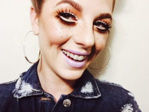 smile, vsco, fall, fashion, denim, makeup, lashes