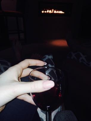 Wine, Fireplace, Cozy, Nails, Mood, Evening, Mellow, Enjoy,
